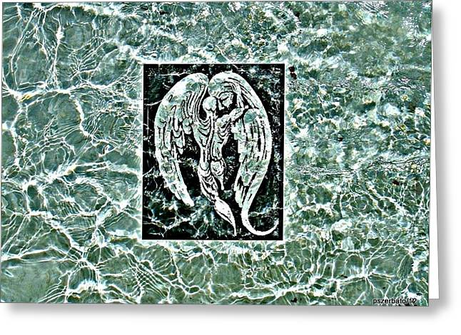 Drain Mixed Media Greeting Cards - Water Greeting Card by Paulo Zerbato