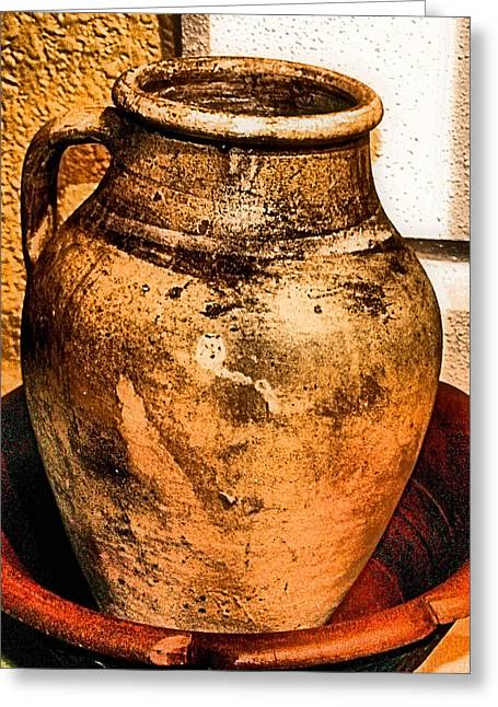 Old Pitcher Greeting Cards - Water Pitcher Greeting Card by Jimmy Ostgard