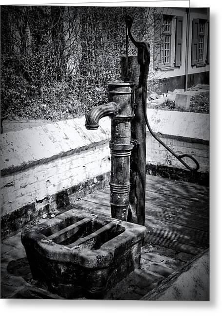 Water Pump Greeting Card by Wim Lanclus