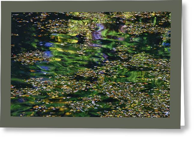 Water Reflections 11 Greeting Card by Allen Beatty