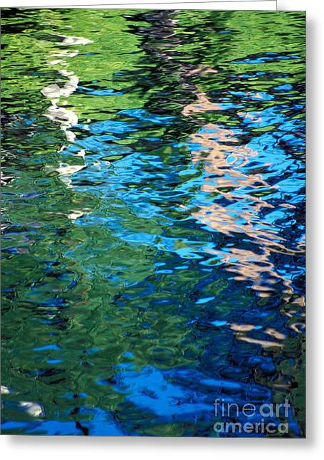 Water Reflections Greeting Card by Bill Brennan - Printscapes