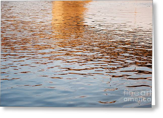 Reflecting Water Greeting Cards - Water reflections blue ripples Greeting Card by Arletta Cwalina