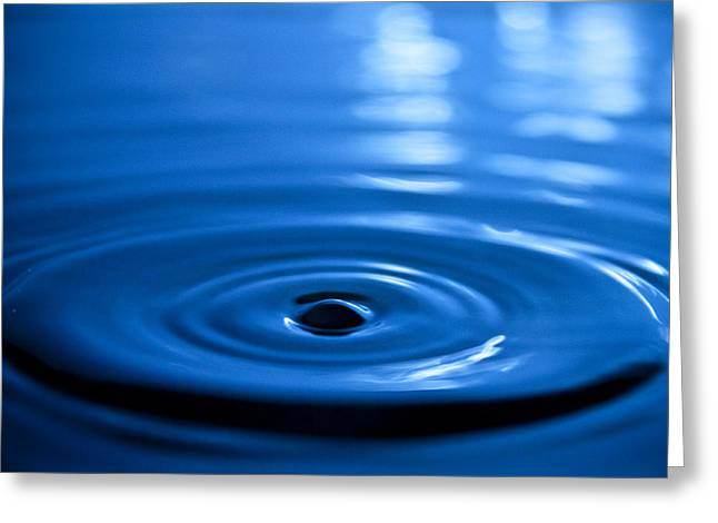 Water Drop Greeting Cards - Water Ripples Greeting Card by Dustin K Ryan