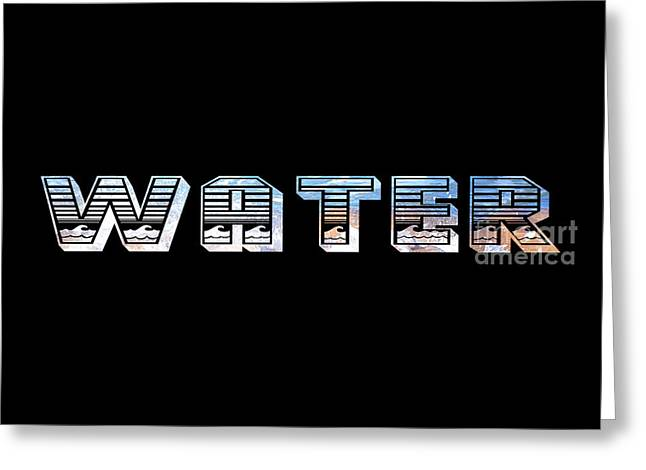 Labelled Greeting Cards - Water Signage by Kaye Menner Greeting Card by Kaye Menner