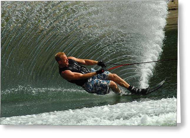 Water Skiing Magic Of Water 11 Greeting Card by Bob Christopher