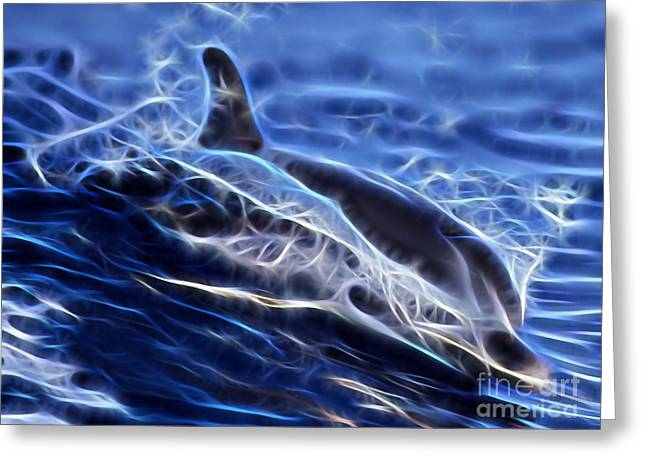 Water Skiing Greeting Card by Marvin Blaine