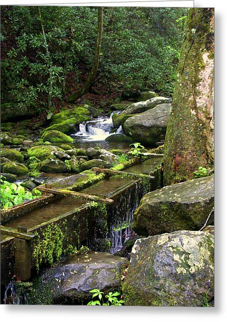 Water Sluice  Greeting Card by Marty Koch