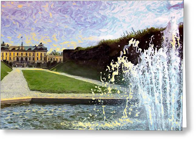 Royal Family Arts Greeting Cards - Water Sounds Greeting Card by GabeZ Art