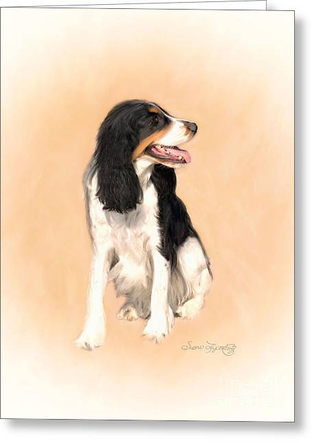 Spaniel Greeting Cards - Water Spaniel Greeting Card by Susan  Lipschutz