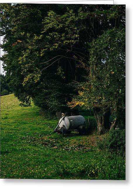 Water Tank In A Pasture Greeting Card by Pati Photography