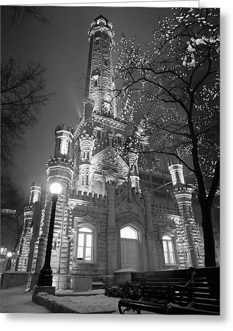 Water Tower Chicago Il Greeting Card by Panoramic Images