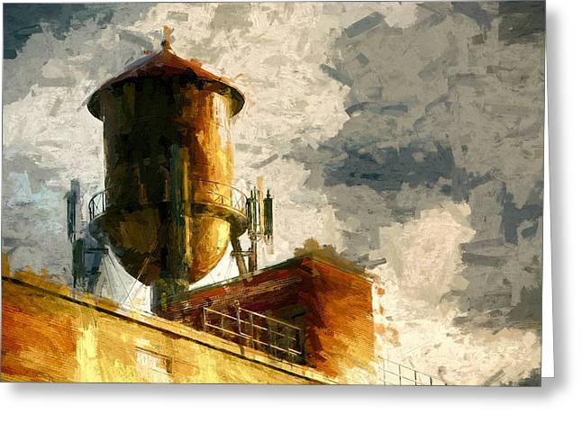 Water Tower Greeting Card by John K Woodruff