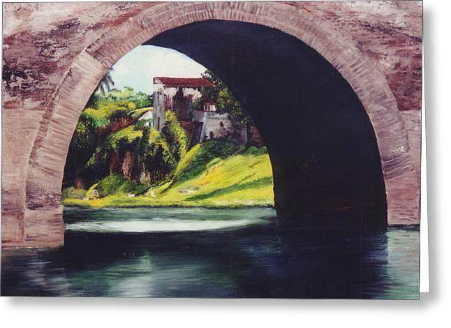 Water Under The Bridge Greeting Card by Dominica Alcantara