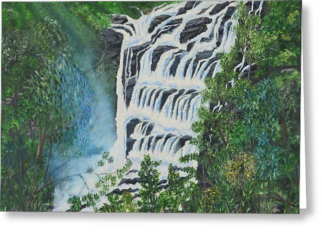 Water Greeting Card by Usha Rai