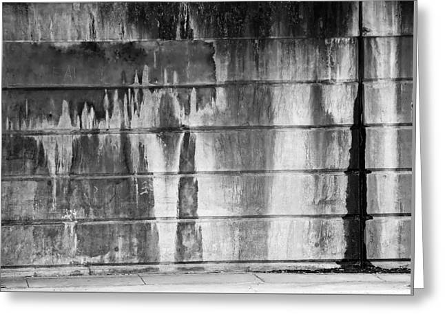 Water Wall Greeting Card by KM Corcoran