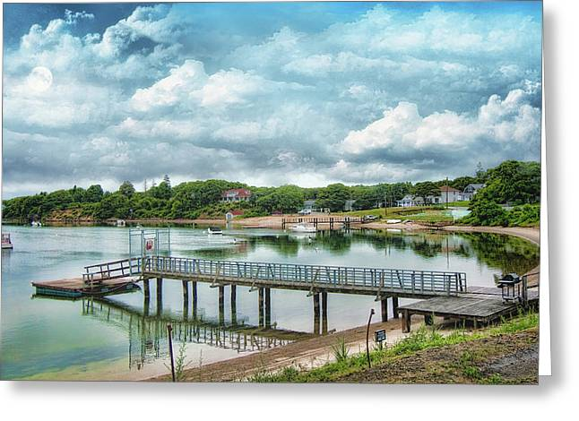 Seaside Digital Greeting Cards - Water Way to the Cape Greeting Card by Gina Cormier