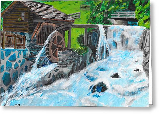 Water Wheel Greeting Card by David Bigelow