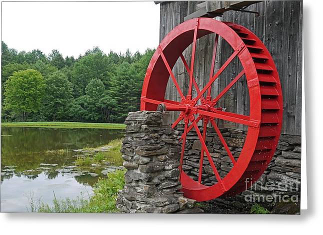 Water Mill Greeting Cards - Water Wheel Vermont Greeting Card by Edward Fielding