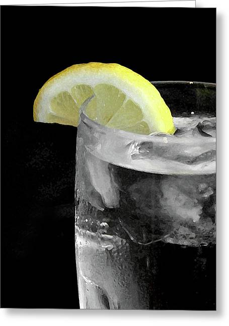Resturant Art Greeting Cards - Water With Lemon Greeting Card by Jeremy Lewis