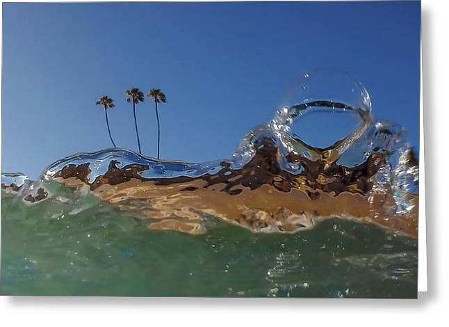 California Beach Art Greeting Cards - Water Works Greeting Card by Sean Foster