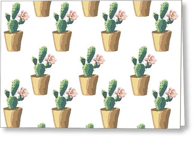 Watercolor Cactus Greeting Card by Roam  Images