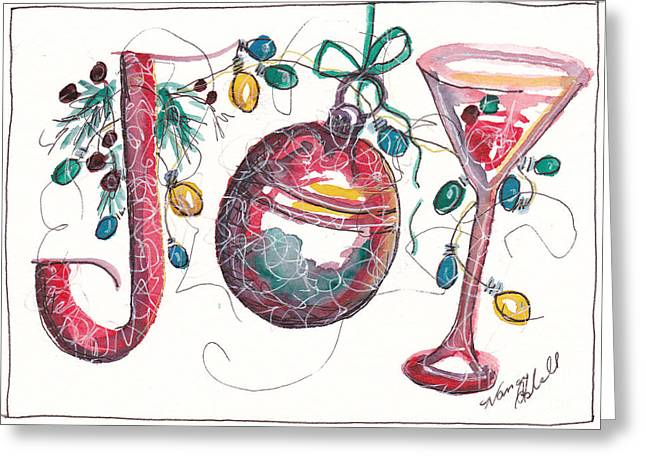 Watercolor Christmas Notecard Greeting Card by Michele Hollister - for Nancy Asbell