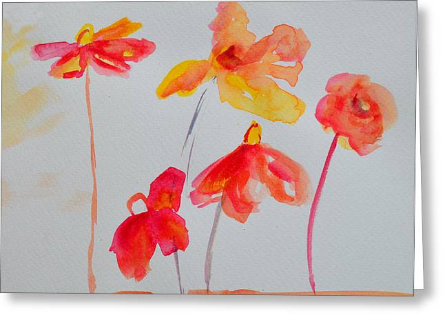Delicate Drawings Greeting Cards - Watercolor Flowers Bunch Greeting Card by Patricia Awapara