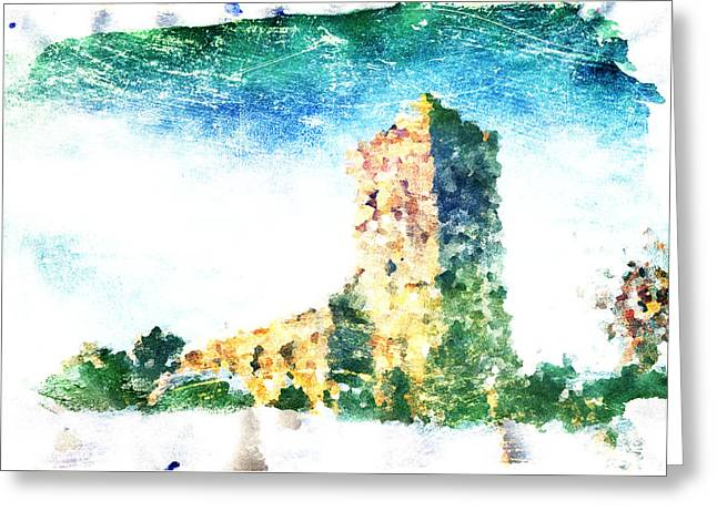 Lanscape Digital Greeting Cards - Watercolor Landscape Greeting Card by Andrea Barbieri