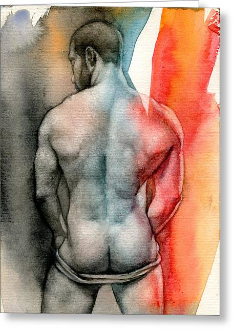 Chris Lopez Greeting Cards - Watercolor study 6 Greeting Card by Chris  Lopez