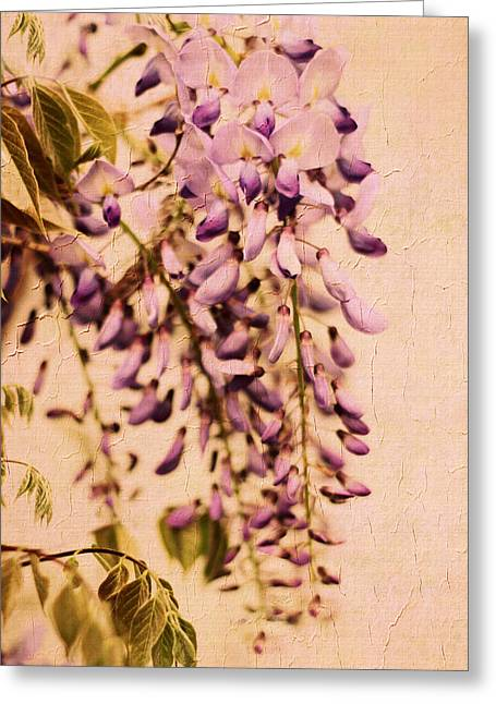 Watercolor Wisteria Greeting Card by Jessica Jenney