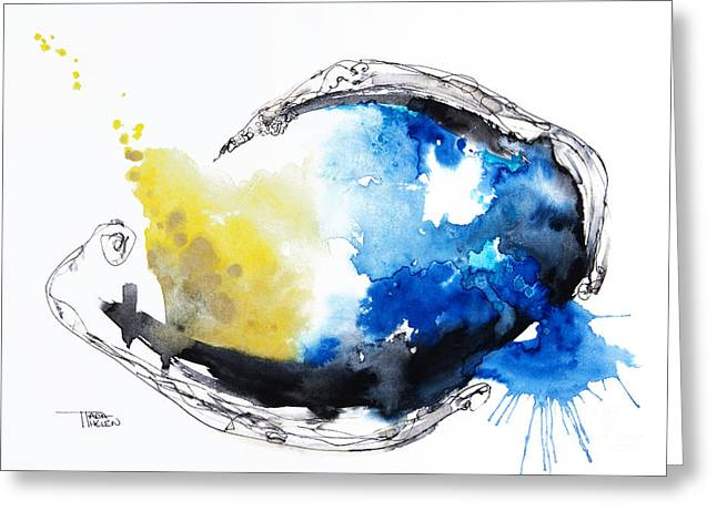 Unique Art Greeting Cards - Fish Watercolor Greeting Card by Tara Thelen