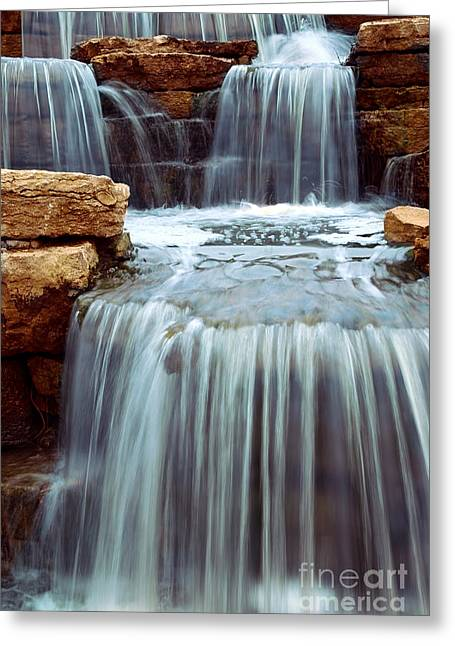 Clear Flowing Stream Greeting Cards - Waterfall Greeting Card by Elena Elisseeva