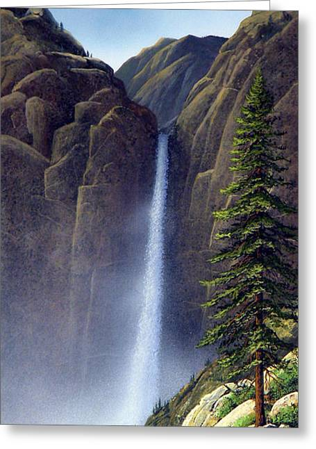 Waterfall Greeting Card by Frank Wilson