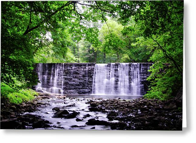 Waterfall In Gladwyne Pa Greeting Card by Bill Cannon
