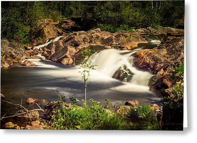 Kjg Greeting Cards - Waterfall in Marnardal Greeting Card by Mirra Photography