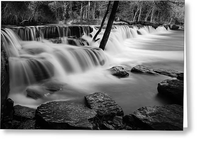 Waterfall Greeting Card by James Barber