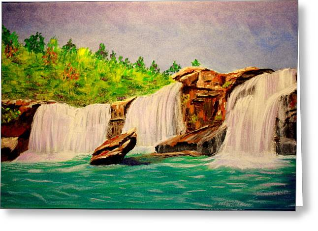 Waterfall Pastels Greeting Cards - Waterfall Greeting Card by Jay Johnston