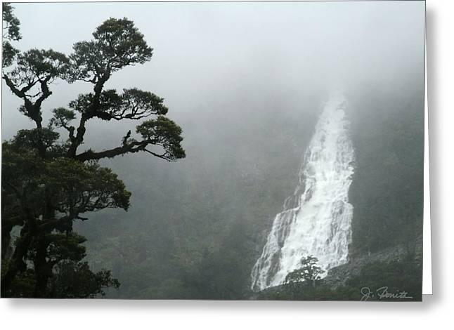 Doubtful Greeting Cards - Waterfall Greeting Card by Joe Bonita
