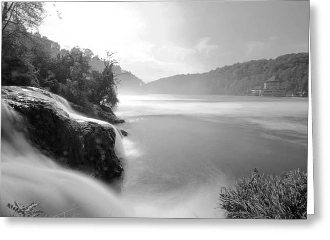 Swiss Photographs Greeting Cards - Waterfall Greeting Card by Marc Huebner