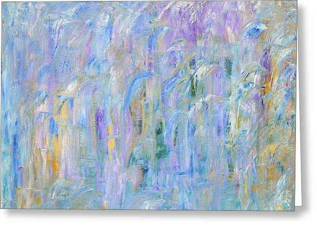 Faa Featured Paintings Greeting Cards - Waterfall Greeting Card by Marla McPherson