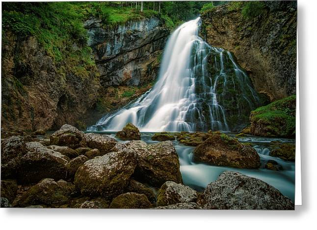 Waterfall Greeting Card by Martin Podt