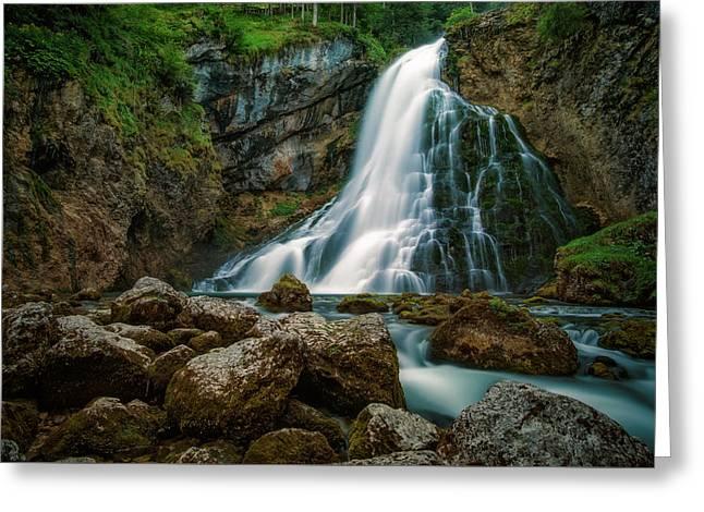 Waterfall Greeting Cards - Waterfall Greeting Card by Martin Podt