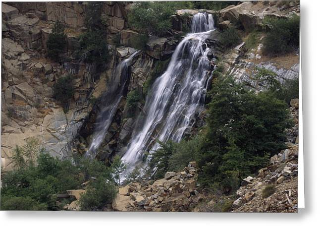 North Fork Greeting Cards - Waterfall - North Fork Kern River Greeting Card by Soli Deo Gloria Wilderness And Wildlife Photography