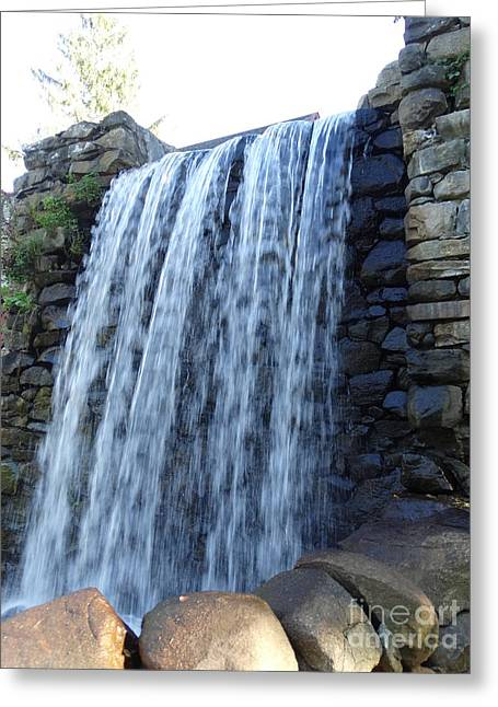 Grist Mill Greeting Cards - Waterfall Of The Grist Mill Greeting Card by Gina Sullivan