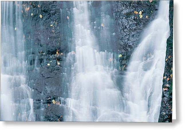 Panoramics Greeting Cards - Waterfall Greeting Card by Panoramic Images