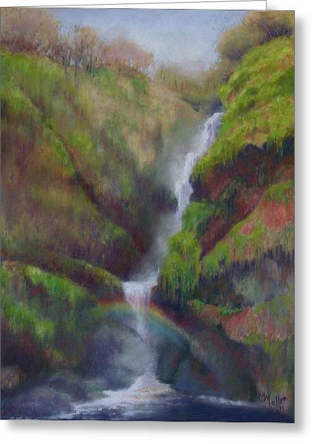 Waterfall Pastels Greeting Cards - Waterfall Prism Greeting Card by Marcus Moller