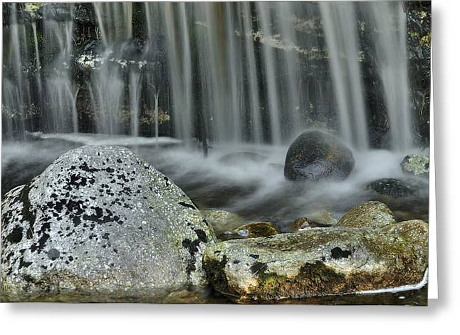 Waterfall Ribbons Greeting Card by Stephen  Vecchiotti