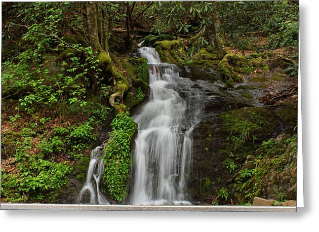 Tennessee River Greeting Cards - Waterfall Greeting Card by Sandy Keeton