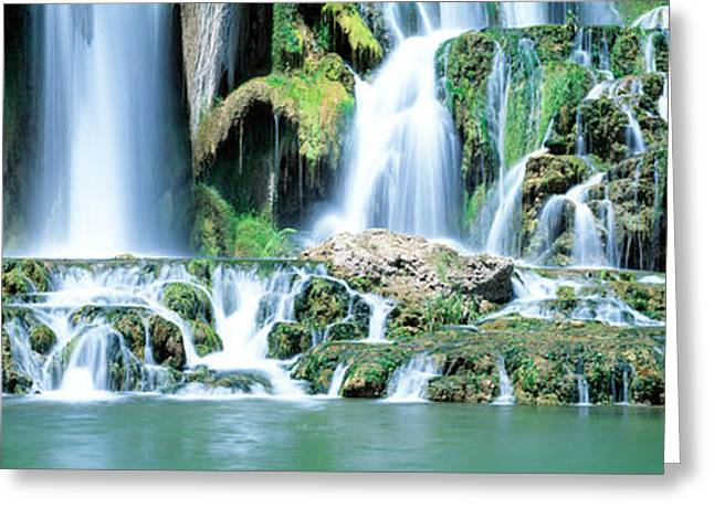Waterfall Snake River Bonneville Co Id Greeting Card by Panoramic Images