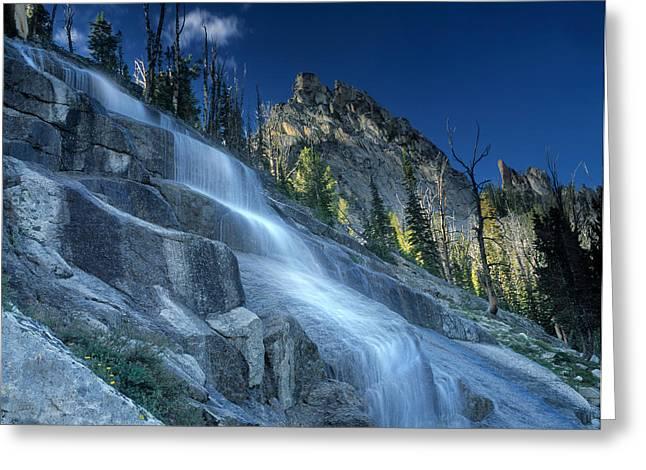 Waterfall Trail Greeting Card by Leland D Howard